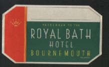 Hotel label luggage labels possibly Railway hotel